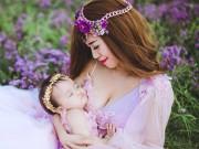 Bạn trẻ - Cuộc sống - Bộ ảnh đẹp như tranh của mẹ con hot girl Mai Thỏ