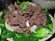 Ẩm thực - Thịt bò xào rau cải ngon cơm đầu tuần
