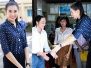 Thời trang - Á hậu Lệ Hằng tặng quà cho các thầy cô giáo nghèo