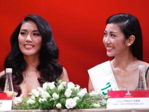 Lan Khuê hội ngộ Thúy Vân trước thềm Miss World 2015