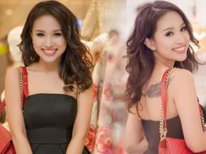 Thanh Vân Hugo lộ hình xăm lớn khi diện váy quây