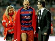 Bóng đá - Ngăn cản Bale, Mascherano dính chấn thương