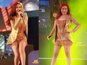 Ca nhạc - MTV - Hoàng Thùy Linh mặc váy ngắn khoe chân dài miên man