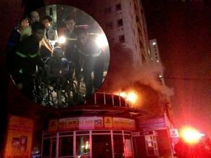 Tin tức trong ngày - HN: Cháy chung cư 25 tầng lúc nửa đêm, cư dân hoảng loạn