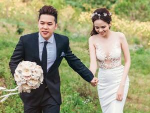 Thời trang - Diễm Hương khoe ảnh cưới lần 2 với váy xuyên thấu