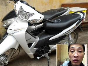 An ninh Xã hội - Bị cảnh sát phát hiện trộm xe máy, rút dao chống trả