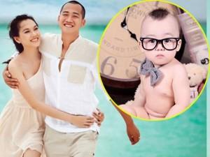 """Lộ ảnh em bé """"siêu yêu"""" nhà Ngọc Thạch & chồng thiếu gia"""