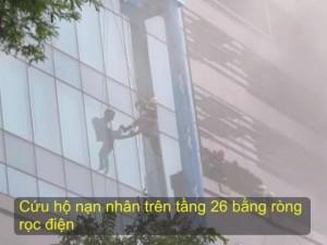 Tin tức trong ngày - Clip: Nín thở xem diễn tập giải cứu 3.000 người trong tòa nhà cháy nổ