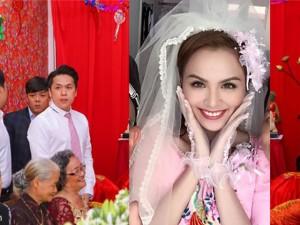 Đám cưới hoa hậu Diễm Hương vắng mặt bố mẹ hai bên