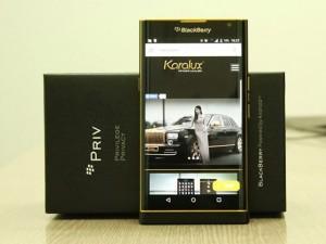 Dế giá rẻ - Lộ ảnh BlackBerry Priv phiên bản mạ vàng 24K