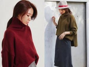4 kiểu áo len nên có mùa đông này