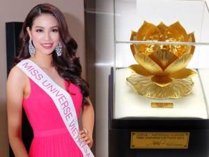 Thời trang - Phạm Hương mang sen vàng đến Hoa hậu Hoàn vũ 2015