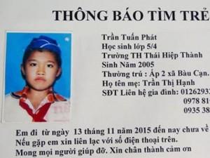 Tin tức trong ngày - Vụ HS lớp 5 mất tích: Bị người lạ thả cách nhà hơn 20km