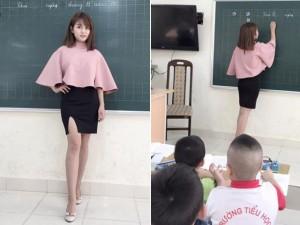 """Bạn trẻ - Cuộc sống - """"Cô giáo mặc váy ngắn"""" khẳng định sẽ duy trì sở thích"""