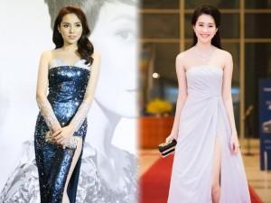 Thời trang - Sao Việt đẹp - xấu với váy xẻ cao