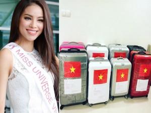 Thời trang - Phạm Hương mang 8 va li hành lý đến Hoa hậu Hoàn vũ