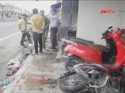Video An ninh - Clip: Ô tô nổ lốp, cày nát vỉa hè