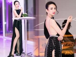 Thời trang - Hoa hậu Ngọc Diễm gây xao xuyến với váy hở lưng