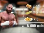 """Thể thao - Tân vương quyền Anh """"đả bay"""" 15000 calo đồ ăn"""