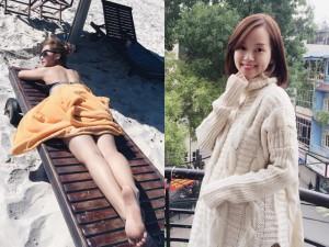 Bạn trẻ - Cuộc sống - Khả Ngân gợi cảm với bikini, Ly Kute làm mẫu bà bầu
