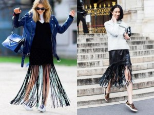 Lạnh rồi, diện váy tua rua ra phố đi cô gái!