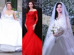 Tuyển tập váy cưới nổi bật của sao Việt năm 2015