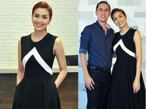 Người mẫu - Hoa hậu - Tăng Thanh Hà rạng rỡ bên chồng điển trai
