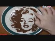 Ẩm thực - Clip: Màn vẽ tranh đỉnh cao trên cà phê