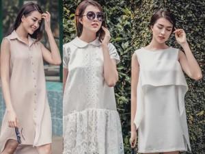 Thời trang - Diện váy suông xuống phố thời trang như á hậu Lệ Hằng
