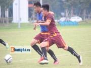 """Bóng đá Việt Nam - Xuân Trường trở lại, U23 VN """"bở hơi tai"""" đá đối kháng"""