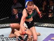 """Thể thao - Tranh đai hạng lông, """"Hoa khôi"""" UFC bị đánh bầm dập"""