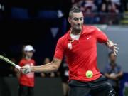 """Thể thao - Tennis Ngoại hạng: """"Trai hư"""" và đồng đội thắng nhọc"""
