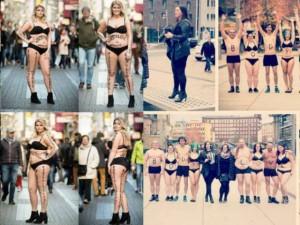 """Bạn trẻ - Cuộc sống - Những cô nàng """"quá khổ"""" mặc bikini giữa phố"""