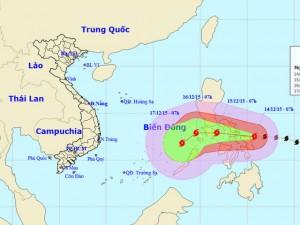 Siêu bão Melor đang hướng vào biển Đông