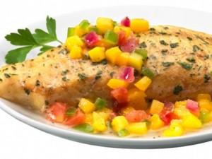 Ẩm thực - Chua ngọt lạ miệng cá rô phi nướng xoài