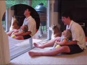 """Bạn trẻ - Cuộc sống - Clip: Trò chơi """"bá đạo"""" của bố, con gái và chó cưng"""