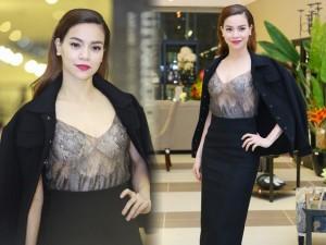 Thời trang - Hồ Ngọc Hà diện áo mỏng bất chấp giá lạnh Hà Nội