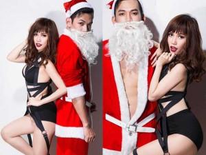 Thời trang - Sĩ Thanh khoe đường cong hút mắt bên ông già Noel