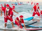 Clip Đặc Sắc - Hàng trăm ông già Noel xô đổ kỷ lục lướt sóng