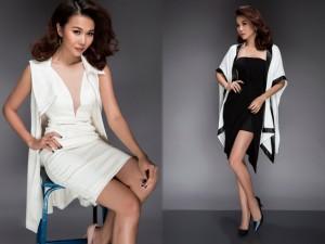 Thời trang - Thanh Hằng khoe chân dài gợi cảm với váy ngắn