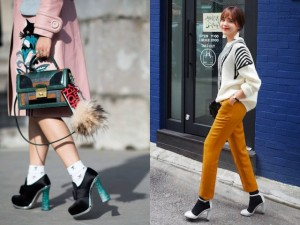 Giầy - dép - 3 nguyên tắc cơ bản khi muốn phối giày cao gót và tất