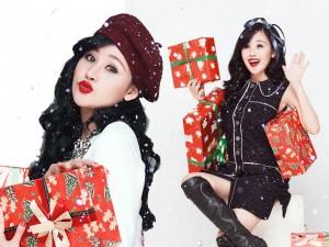 'Bà Tưng' tung ảnh lung linh đón Giáng sinh