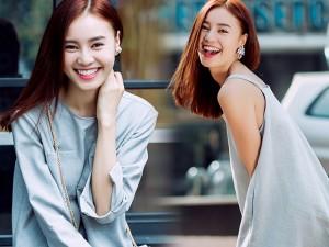 Thời trang - Lan Ngọc diện váy 2 dây tung tăng dạo phố cuối năm
