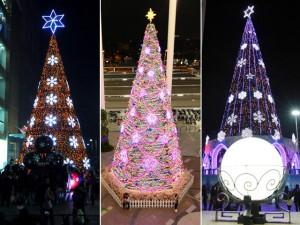 """Tin tức trong ngày - Ngắm những cây thông Noel """"siêu khủng"""" ở Hà Nội"""