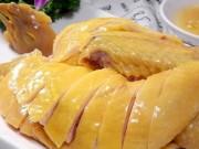 Ẩm thực - Cách luộc gà vàng ươm, da giòn không bị nứt