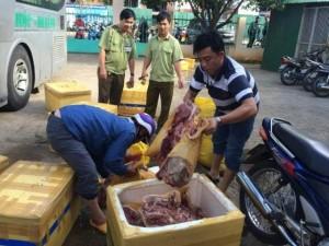 Thị trường - Tiêu dùng - Kiểm tra xe khách, phát hiện gần 1 tấn thịt thối
