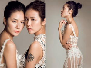 Chị em Phương Linh đẹp ma mị trong loạt ảnh mới
