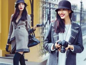 Thời trang - Hoàng Thùy hóa quý cô 'sang chảnh' xuống phố Hà Nội