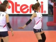 Thể thao - Người đẹp bóng chuyền nhảy ăn mừng quyến rũ