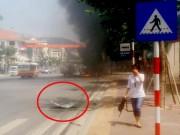 """Vụ nổ taxi ở Quảng Ninh:  """" Tôi tưởng nổ cây xăng """""""